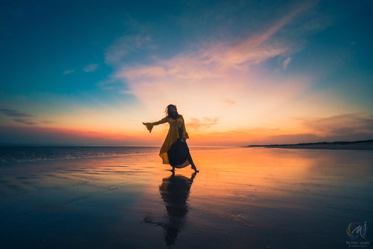 Sun set at Mandavi