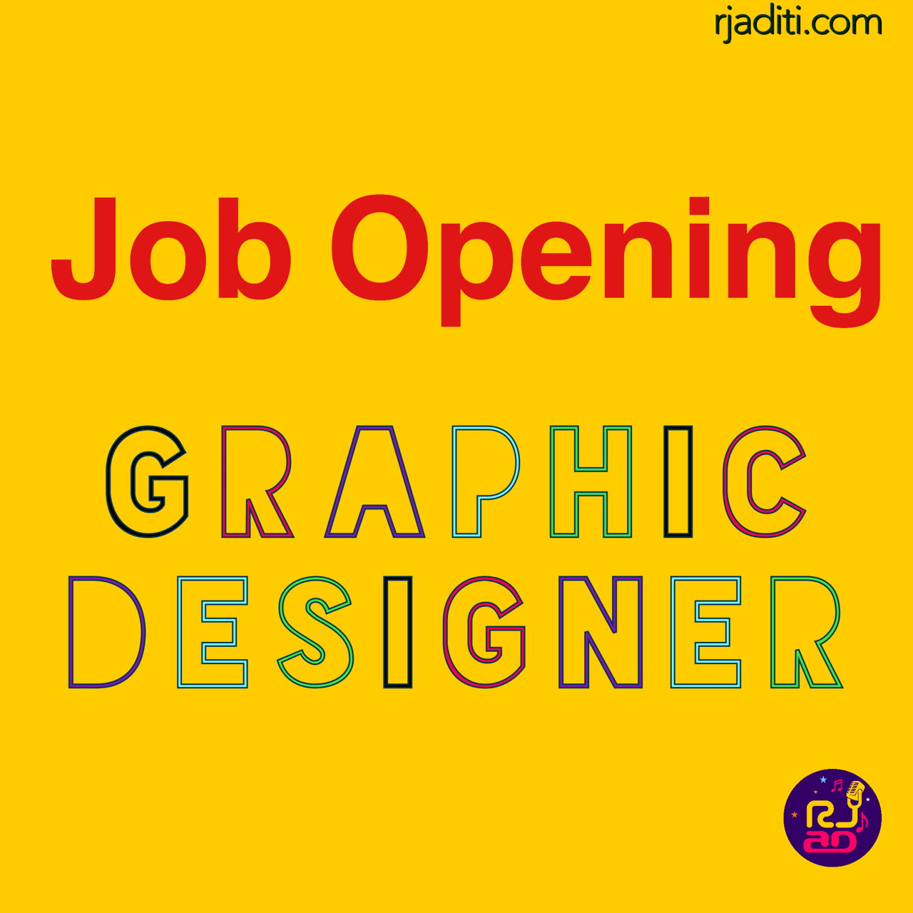 job opening for graphic designer