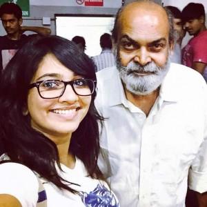 RJ Aditi with Raju Barot
