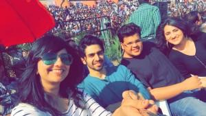 With Shivam Patil, Rishabh Arora & Diana Khan