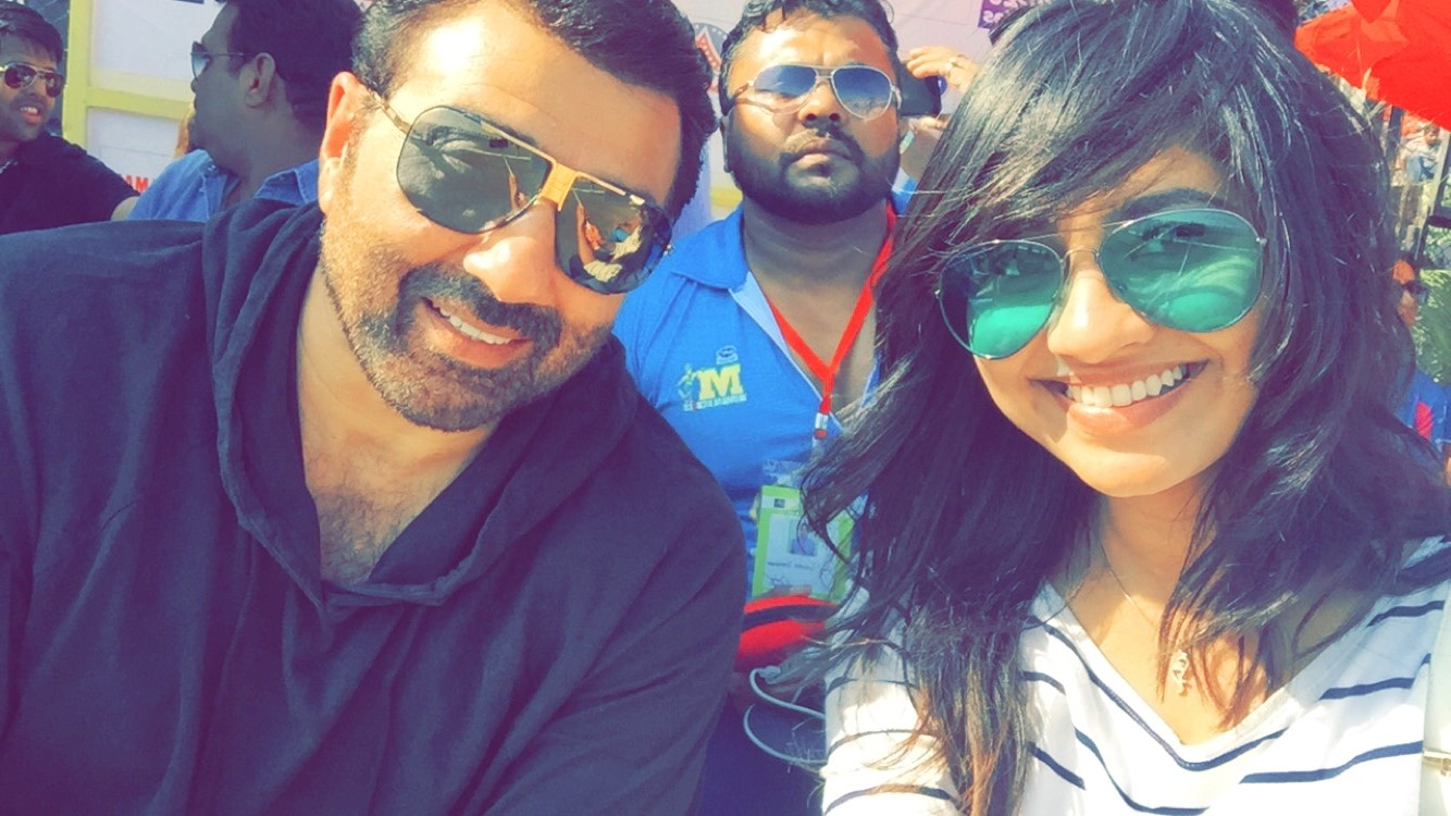 Selfie with Sunny Deol.