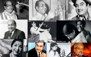 Manna Dey, Kishore Kumar, Lata Mangeshkar, Mohammad Rafi and Asha Bhosle