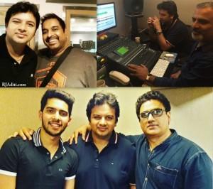 Parth with Shankar Mahadevan & Armaan