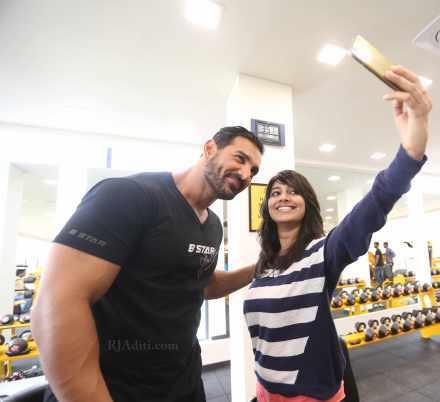 Fitness Expert John with Selfie Expert Aditi ;)